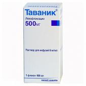 Таваник» 5 табл. По 500 мг, описание и инструкция по применению.